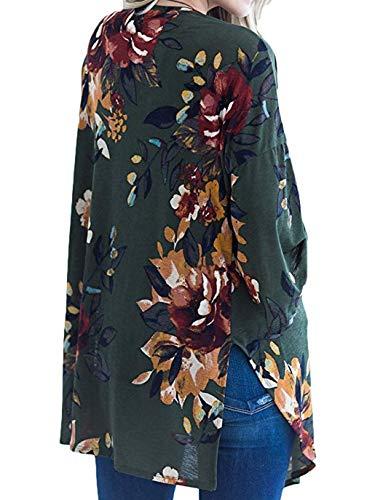 Casual Veste Manteau Printemps Hauts Imprim Mode Longues Femmes Automne Pulls Cardigan Manches t7A7q4