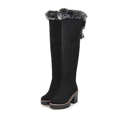 Amazon.com: Joybi - Botas altas para mujer, con cremallera ...