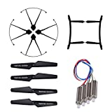 Hooray! Service Original CW / CCW Motor & Propeller & Propeller Guard & Landing Skid Set Spare Parts for JJRC H31 RC Quadcopter