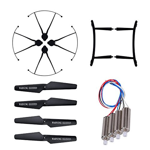 Hooray! Service Original CW / CCW Motor & Propeller & Propeller Guard & Landing Skid Set Spare Parts for JJRC H31 RC Quadcopter by Hooray Service