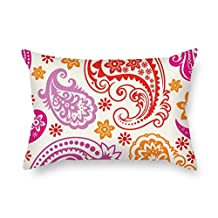Throw Pillow Case Of Paisley 20 X 26 Inches / 50 By 65 Cm Best Fit For Couples Valentine Festival Him Relatives Home Both Sides