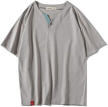 Camiseta para hombre Camiseta de manga corta lisa Casual Tops ...