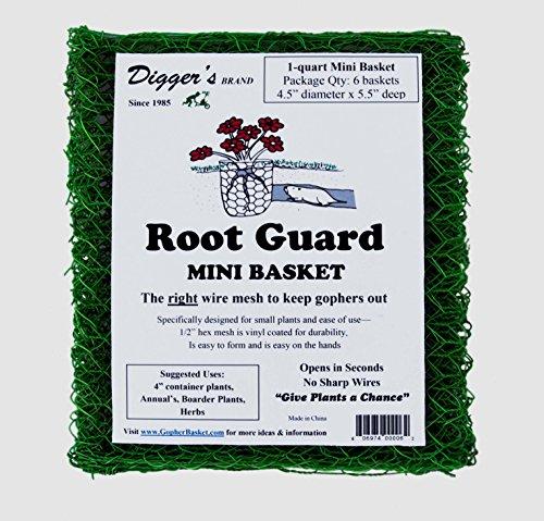 Bulk Pack - 24 Qty Mini RootGuard Heavy Duty Gopher Wire Baskets