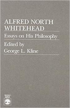 Book Alfred North Whitehead by George L. Kline (1989-08-30)