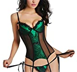 Best Zhitunemi Lingerie - Women's Sexy Lace Boned Bustier Corset Girdle Waist Review