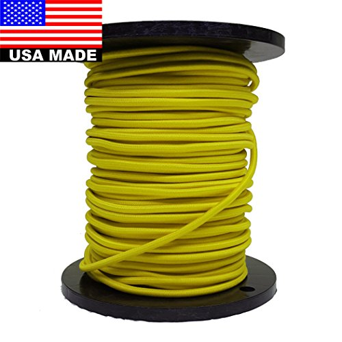 Bungee Cord 9mm (3/8'') - 300' Roll (Yellow) by USA Made