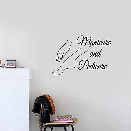 Salon de Beauté Manucure Pédicure Nail Art polonais Vinyle Mur Fenêtre Autocollant Décor