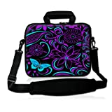 """Purple-black design 9.7"""" 10"""" 10.2"""" inch Laptop Netbook Tablet Shoulder Case Carrying Sleeve bag For Apple iPad/Asus EeePC/Acer Aspire one/Dell inspiron mini/Samsung N145/Lenovo S205 S10/HP Touchpad Mini 210"""