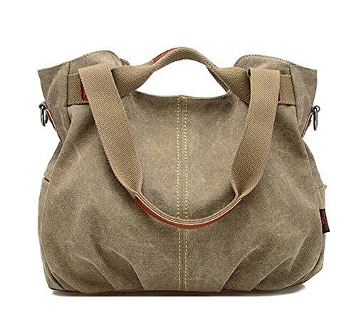 Retro TM Tote Crossbody Canvas Womens Handbag Fold Army Green Fansela Hobo Bag gqTwq