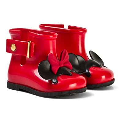 dbeffefb49e Mini Melissa Red and Disney Mickey   Minnie Mouse Rain Boots (10-11 UK