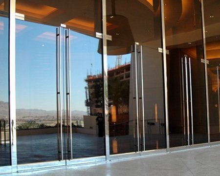 Porta Ingresso Ufficio : Mcnairn moderna in acciaio inox spazzolato sus304 ingresso entrata