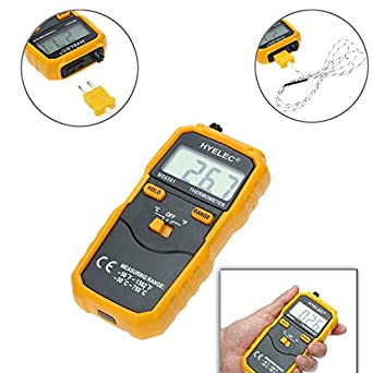 Portable HYELEC MS6501 High Accuracy Termostato Digital Thermometer K Type Thermocouple Termometro With Data Hold/