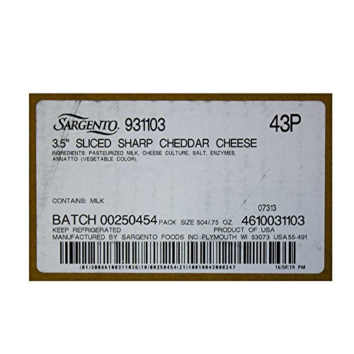 Sargento Sliced Sharp Cheddar, 21 Ounce -- 18 per case. by Sargento (Image #3)