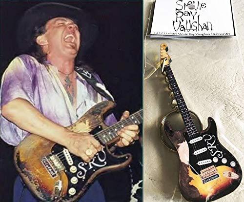(Keychain Guitar Fender Stevie Ray Vaughan Stratocaster)