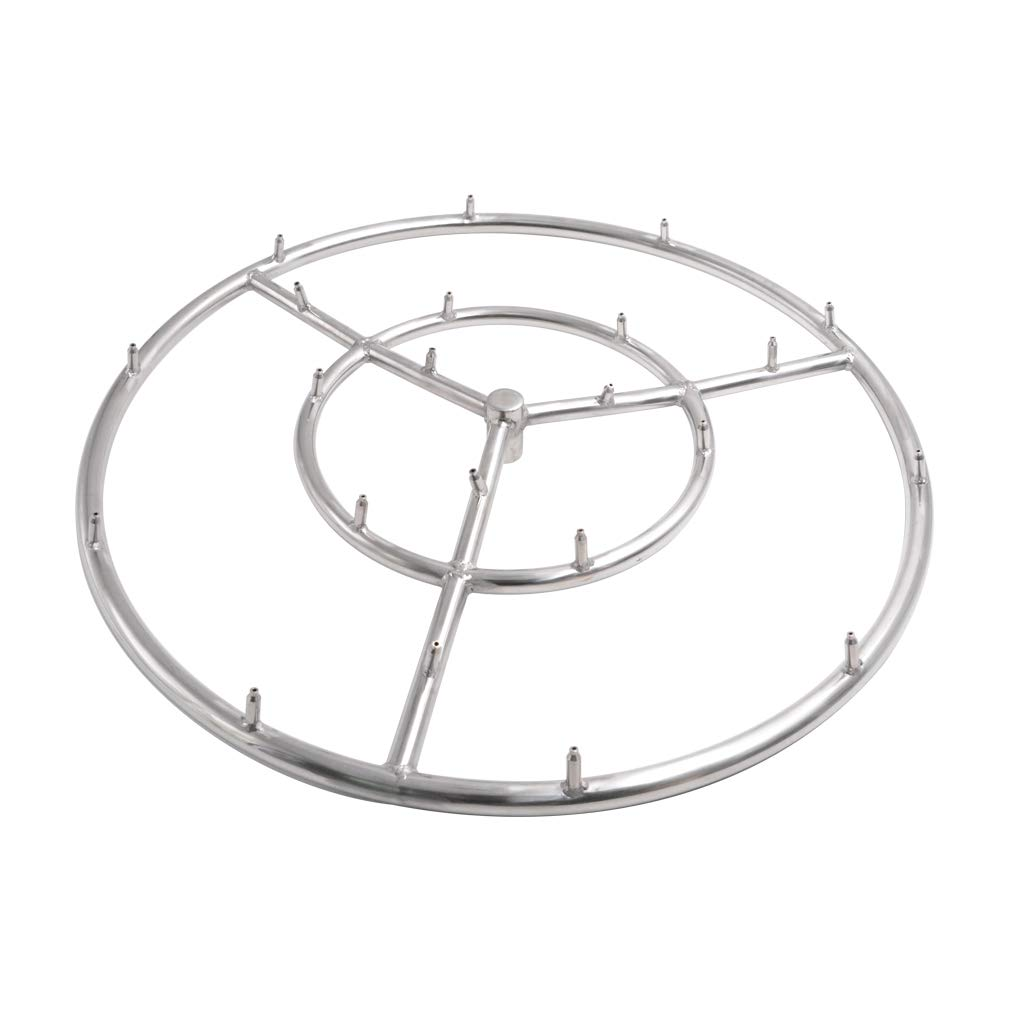 Skyflame 18 Inch Round Stainless Steel Fire Pit Jet Burner Ring, High Flame by Skyflame