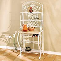 Kitchen Bakers Rack Includes Wine Storage