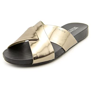131d8178d42e Amazon.com  MICHAEL Michael Kors Women s Somerly Leather Slide ...