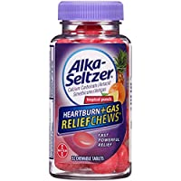 32 Ct Alka-Seltzer Heartburn Plus Gas Relief Chews Tropical Punch