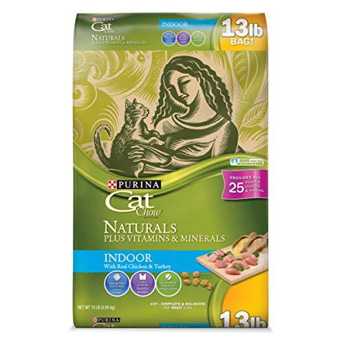 Purina Cat Chow Hairball, Weight Control, Indoor, Natural Dry Cat Food; Naturals Indoor - 13 lb. Bag