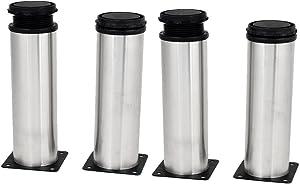 uxcell Kitchen Cabinet Cupboard 50mmx150mm Metal Adjustable Furniture Leg Foot 4pcs