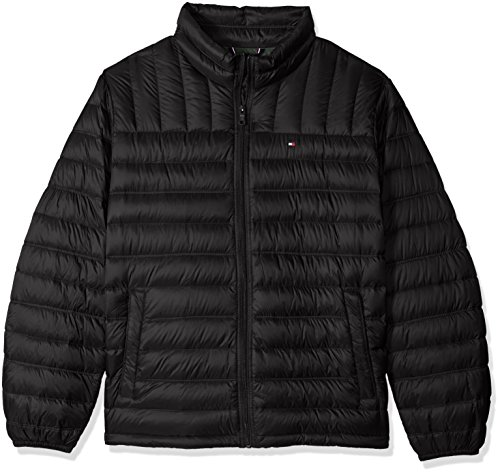 Tommy Hilfiger Men's Packable Down Jacket, Black, 3X Big