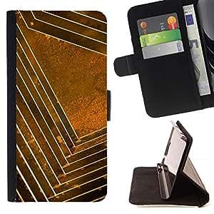 Momo Phone Case / Flip Funda de Cuero Case Cover - Patrón oro amarillo abstracto Limpio - Huawei Ascend P8 (Not for P8 Lite)