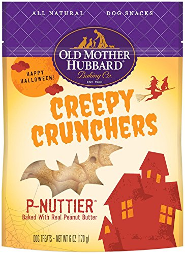 Old Mother Hubbard Natural Creepy Cruncher P-Nuttier Treats, 6-Ounce Bag -