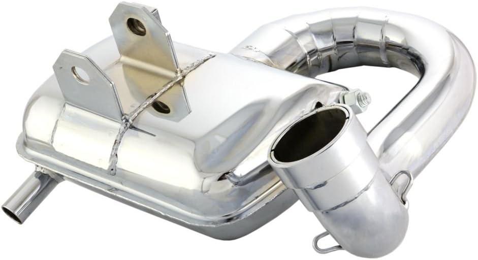 chrom gro/ßer Kr/ümmer f/ür VESPA PX200 E Lusso//EFL// Arcobaleno//Elestart 200 VSX1T 2T AC 83-97 Auspuff SIP ROAD 2.0 Stahl breitreifentauglich