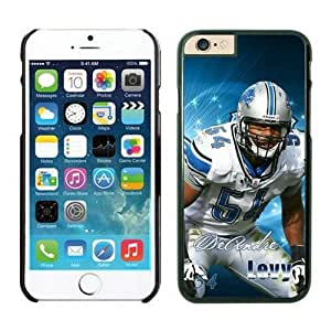NFL iPhone 6 Plus 5.5 Inches Case Detroit Lions DeAndre Levy Black iPhone 6 Plus Cell Phone Case ONXTWKHB1491