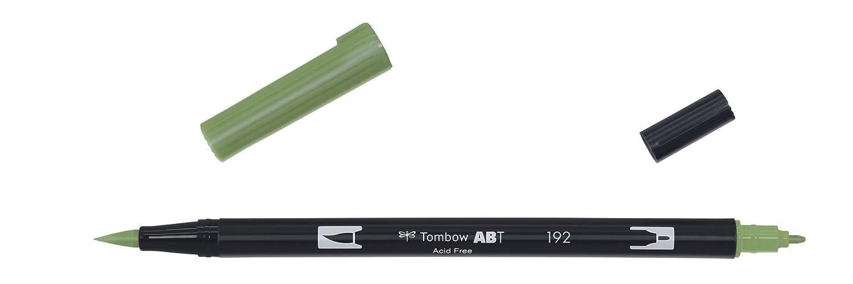 Tombow color aspargus Rotuladores de doble punta con dos puntas en blanco