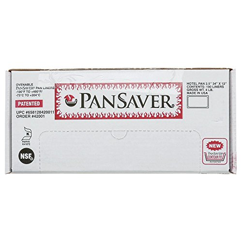 PanSaver Monolyn Full Size Clear Plastic Steam Table Pan Liner - 2 1/2-6