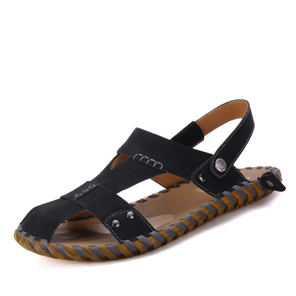 LYZGF Männer Jugend Sommer Strand Casual Breathable Sandalen Mode Strand Sommer Hausschuhe schwarz 75130b