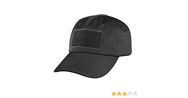 882ab21ad3c Happy Hours - High Quality Canvas Solid Black Tactical Operator Contractor  Velcro Military Patch Sun Protection Cap Sun Hat  Amazon.ca  Clothing   ...