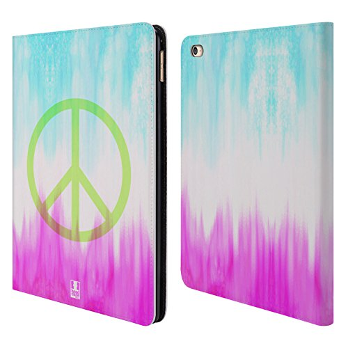 Head Case Designs Peace Tie Dye Leather Book Wallet Case Cover for Apple iPad Air 2 (Tie Dye Ipad 2 Case compare prices)