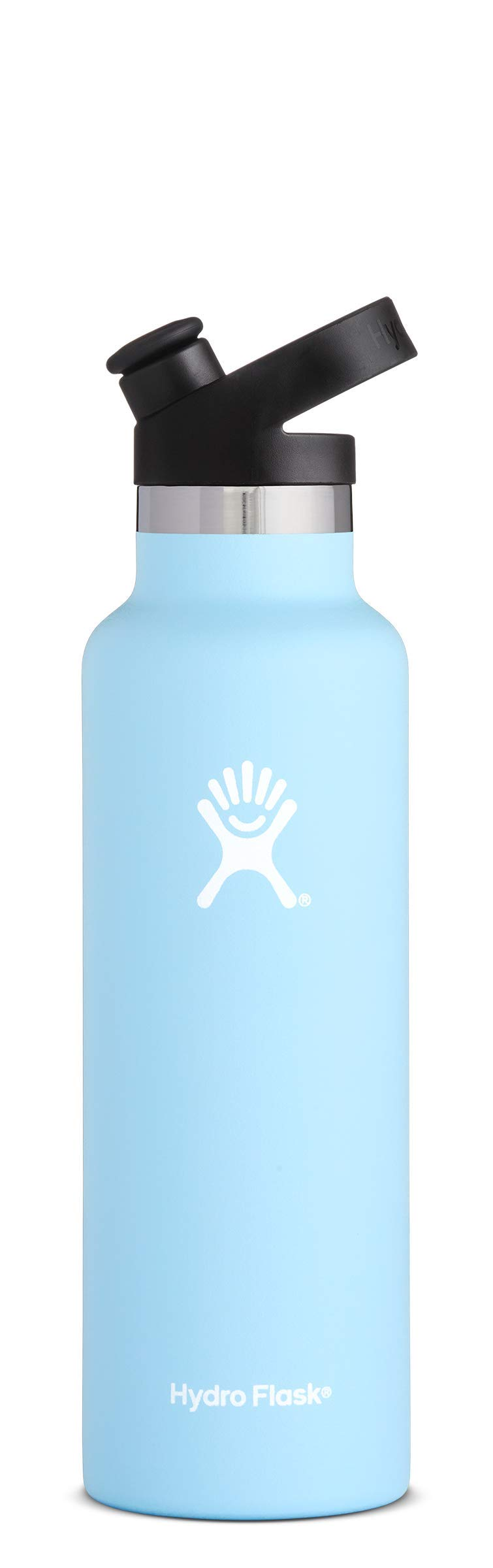 Hydro Flask 21 oz Double Wall Vacuum Insulated Stainless Steel Sports Water Bottle, Standard Mouth with BPA Free Sport Cap, Frost