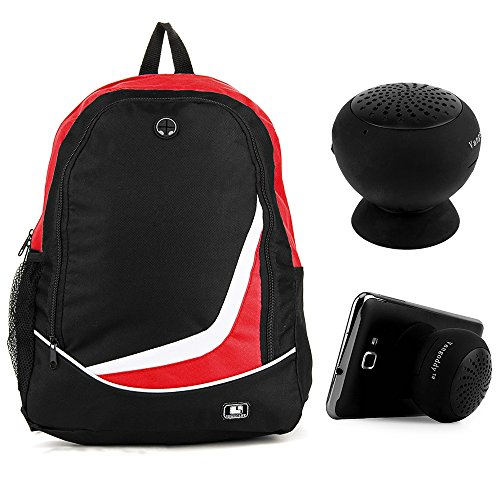SumacLife Nylon Sport Camping Hiking Backpack (Red) for Google Chromebook 12.85