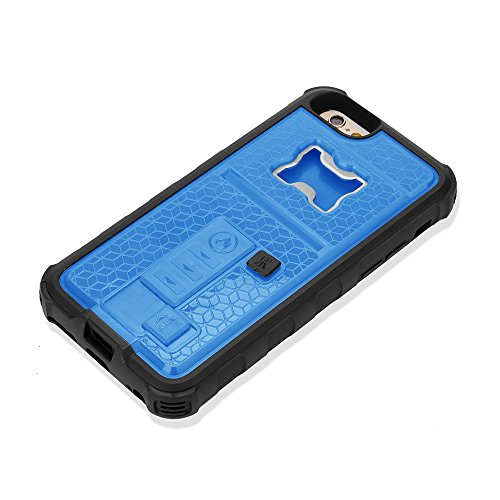 iPhone 7 Plus Case, Multi-functional Built-in Cigarette Lighter & Bottle Opener Protective Shock Proof cover for Apple iPhone 7 Plus (Blue) (Case 5s I Phone Cigarette)