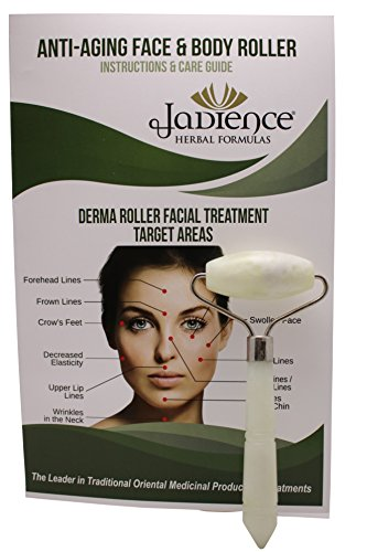 Jade Derma Roller, Single Massage Roller: Infrared Therapy for Anti-Aging, Relaxation & Stress Relief, Eyes, Face, Neck & Body Detox Therapy | Natural Beauty & Healing Acupressure Tools by Jadience