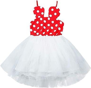 Mitlfuny Verano Ropa Niñas Bebé Princesa Vestidos sin Manga Honda ...