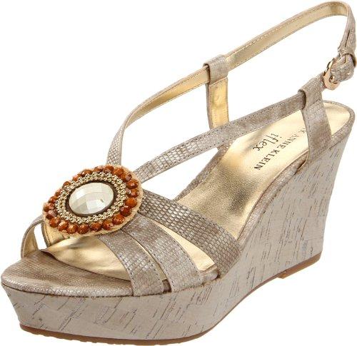 AK Anne Klein Women's Kassidy Platform Sandal,Light Gold,8.5 M US