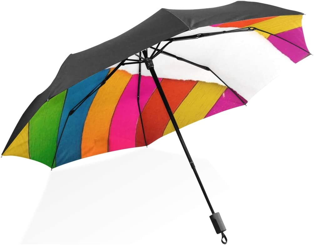 Large Tote Umbrella Art And Craft Coclourful Color Colorful Portable Compact Folding Umbrella Anti Uv Protection Windproof Outdoor Travel Women Fun Umbrella