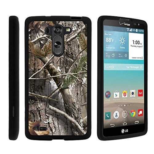 LG G Vista Phone Case, Perfect Fit Cell Phone Case Hard Cover with Cute Design Patterns for LG G Vista D631, LG G Pro 2 VS880 by MINITURTLE - Tree Bark Hunter Camouflage