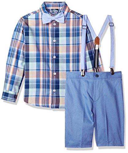 Little Boys Set - Nautica Little Boys' Set with Shirt, Pant, Suspenders, and Bow Tie, Jetstream Plaid, 6