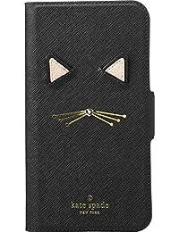Womens Cat Applique Folio Black One Size