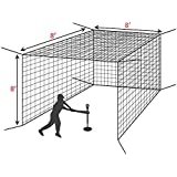 FORTRESS Baseball Batting Cage – The Best Value Cage Ideal for Soft Toss and Tee Hitting [Net World Sports]