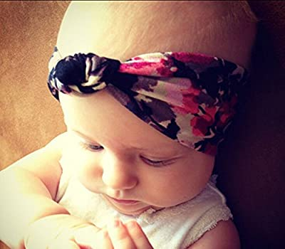 Mookiraer® Baby Girl Newest Turban Headband Head Wrap Knotted Hair Band