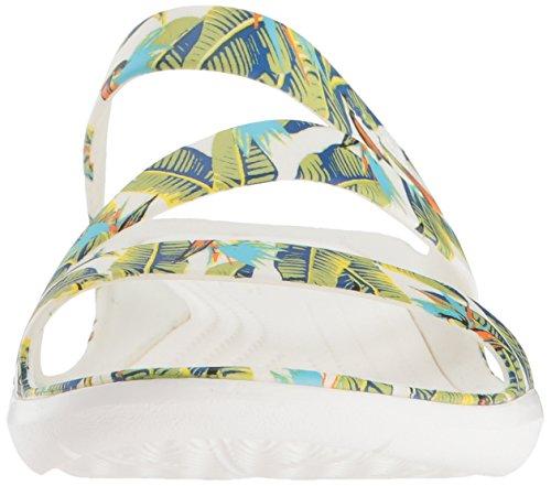 W Volt Women's Sandal Crocs Graphic Green Tropical Flat Swiftwater g7OqWaP