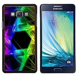 Stuss Case / Funda Carcasa protectora - Rainbow Negro Hexagon Colores - Samsung Galaxy A7 ( A7000 )