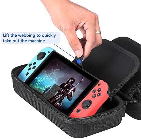 Phiraggit Estuche de transporte para Nintendo Switch con mayor espacio de almacenamiento para 20 cartuchos de juegos, estuche protector rígido de viaje Estuche de transporte para Nintendo Switch: Amazon.es: Videojuegos