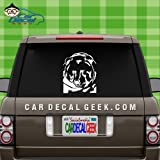 Grizzly Bear Wildlife Head Vinyl Decal Sticker for Car Truck Window Laptop Macbook Wall Cooler Tumbler | Die-cut/No Background | Multiple Sizes and Colors , 8-Inch , White